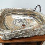 Alabaster Waschbecken Stein Becken Basin Bad Waschschale Waschtisch AL27