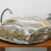 Alabaster Waschbecken Stein Becken Basin Bad Waschschale Waschtisch AL12